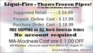 thaw frozen pipes, thawing frozen drains, unthaw frozen sewers, frozen waste pipes